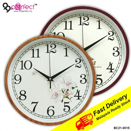 26cm Flora Wall Clock Silent Moment (BC21-0015) 99PERFECT