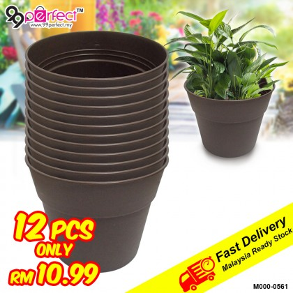 12pcs Small Size Garden Plastic Flower Pot (M000-0561) 99PERFECT