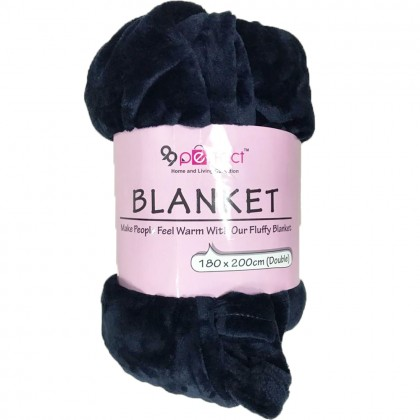 2.0M x 1.8M Queen Blanket Soft Warm Coral Fleece Winter Blanket Bedspread Plaid Dould Blankets (C024-0107) 99PERFECT