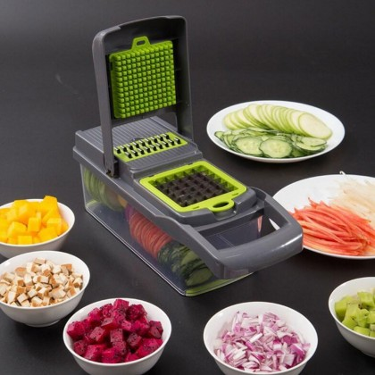 10 IN 1 Vegetable Chopper Fruit Peeler Potato Masher Grate Slicer Grinder Cutter Drain Basket (BC28-0145) 99PERFECT