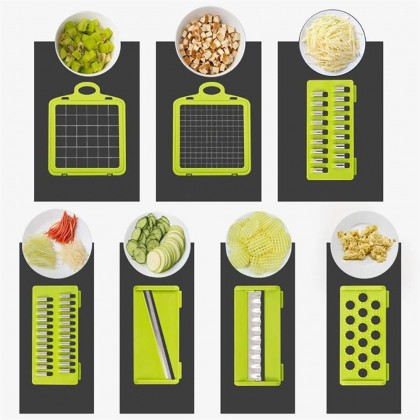 10 IN 1 Vegetable Chopper Fruit Peeler Potato Masher Grate Slicer Grinder Cutter Drain Basket (BC28-0145) 99PERFECT