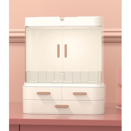 LED Mirror Cosmetic Storage Box Makeup Cosmetic Organizer Jewelry Lipstick Storage (BC10-0116) 99PERFECT