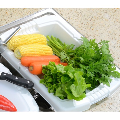 3 in 1 Kitchen Sink Cutting Chopping Board Removable Drain Washing Basket Vegetable Storage (BC28-0150) 99PERFECT