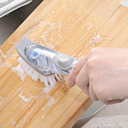 2IN1 Decontamination Wok Cleaning Brush Sponge Liquid Cleanser Free 2 Sponge 2 Brush (BC18-0033) 99PERFECT