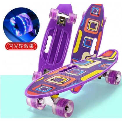 23 inch (59cm) Penny Board Skateboard Flash Wheels Heel for Kids and Adults Colorful (BC14-0078) [ 99PERFECT ]