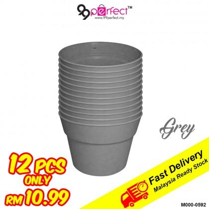 12pcs Mini Garden Plastic Flower Pot (M000-0592) 99PERFECT