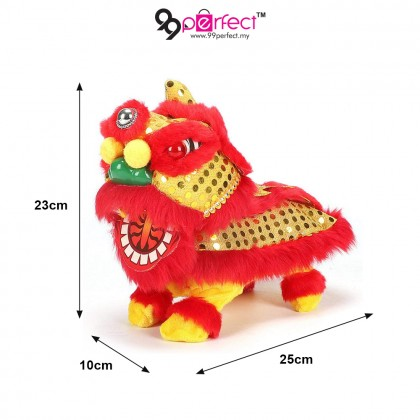 1 Pair Handcrafted Chinese-style Traditional Lion Dance Electric Toy (BM14-0168) 99PERFECT