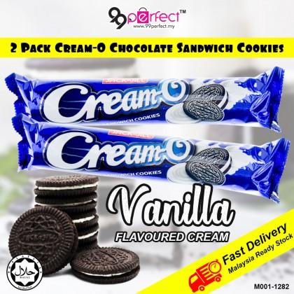 2 pack 132g Cream-O Chocolate Sandwich Cookies Vanilla Flavour Cream (M001-1282) 99PERFECT