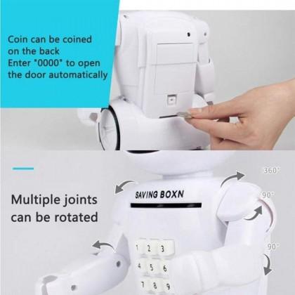 Electronic Robot Piggy Bank Light Music Coin Box Desk Lamp (BC08-0079) 99PERFECT