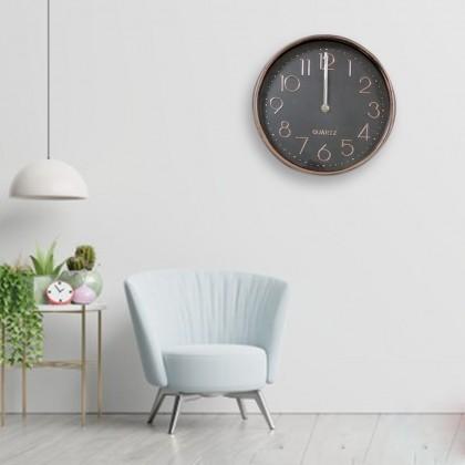 25CM Quartz Wall Clock Silent Moment Vintage Round Modern (C011-0173) 99PERFECT