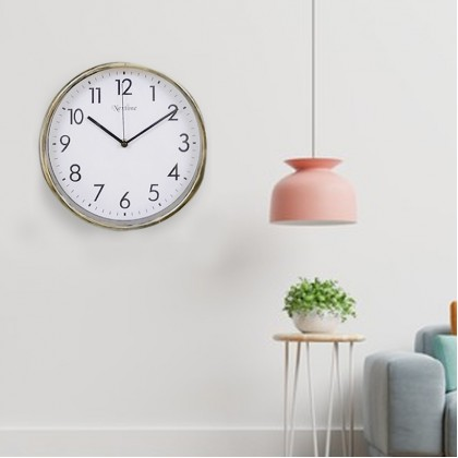25CM Quartz Wall Clock Silent Moment Vintage Round Modern (C011-0174) 99PERFECT