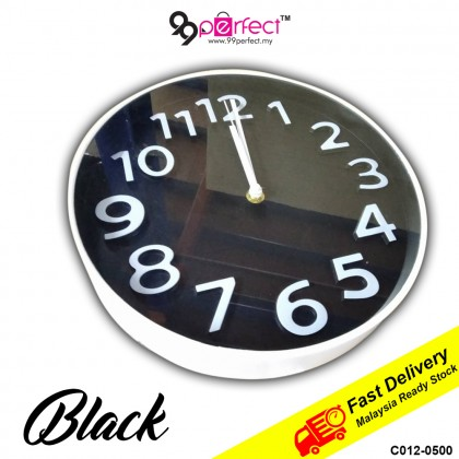 25CM Quartz Wall Clock Silent Moment Vintage Round Modern (C012-0500) 99PERFECT