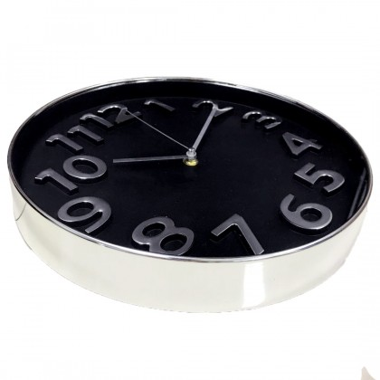 25CM Quartz Wall Clock Silent Moment Vintage Round Modern (C013-0068) 99PERFECT