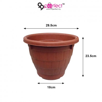 "3pcs Garden Plastic 12"" Round Flower Pot (M003-3155) 99PERFECT"