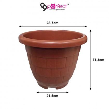 """2pcs Large Garden Plastic 15"""" Round Flower Pot (M008-0968) 99PERFECT"""