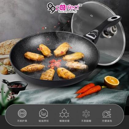28cm Non-coating Honeycomb Cooking Frying Pan Aluminium Marble (C062-0001) 99PERFECT