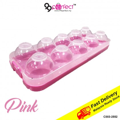 10 slot Egg Tray with Cover Egg Storage Egg Container (C003-2552) 99PERFECT