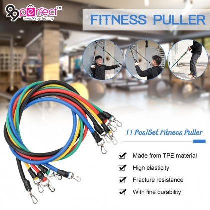 11pcs Set Pull Rope Fitness Exercises Resistance Bands Latex Exerciser Body Training Rope (BC24-0014) 99PERFECT