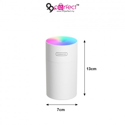 270ml Portable Mini Humidifier Mist with 7-Color LED Night Light for Office Desk Desktop (BC11-0177) 99PERFECT