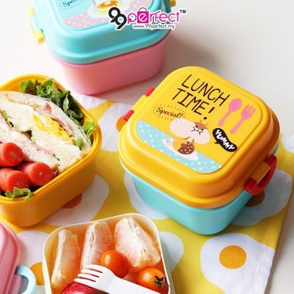 2 Layer Microwaveable Kids Cute Cartoon Lunch Box Kitchen Tableware Tupperware FREE MINI SPOON (C004-1700) 99PERFECT
