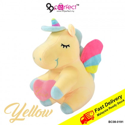 23cm Love Unicorn Soft Pillow Stuffed Toys Cushion Doll for Kids Gift (BC08-0191) 99PERFECT