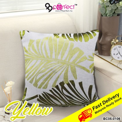 "15"" England Style Leaf Home Decorative Pillowcase Cotton Linen Sofa Car Couch Cushion (BC05-0106) 99PERFECT"