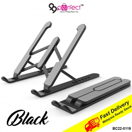 [MALAYSIA READY STOCK] Adjustable Foldable Laptop Stand Non Slip Desktop Holder (BC22-0119) 99PERFECT