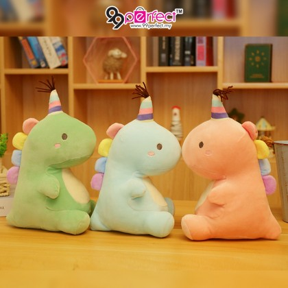 25cm Birthday Dinosaur Pillow Stuffed Toys Soft Pillow Cushion Doll for Kids Toys Gift (BC08-0196) 99PERFECT