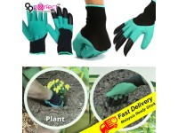 1 Pair Garden Gloves With Claws ABS Plastic Genie Rubber Gloves For Dig Planting (C4-1465)