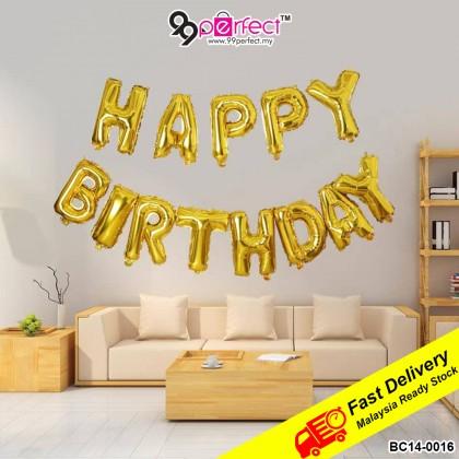 "18"" Set Happy Birthday Foil Balloon Set Party Decoration (BC14-0016) 99PERFECT"