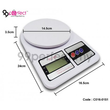 Digital LCD Scale High Precision Electronic Kitchen Scale Food (C016-0151) 99PERFECT