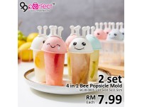2 set 4 in 1 Bee Popsicle Mold