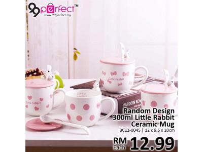 Random Design 350ml Little Rabbit Ceramic Mugs