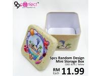 5pcs Random Design Mini Empty Metal Storage Box