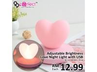 Adjustable Brightness Love Night Lamp with USB