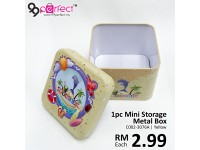 1pc Mini Empty Metal Storage Box