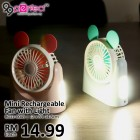 Rechargeable Portable Pocket Mini Fan with Light