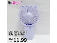 Rechargeable Mini Kitty Handheld Fan