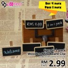 6pcs in 1 pack Mini Wooden Blackboard Clips