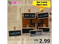 6pcs in 1 pack Mini Wooden Blackboard Clips