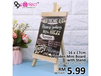 16x17cm Wooden Message Board With Adjustable Wooden Stand Durable