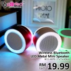 Mini LED Metal Bluetooth Speaker (BC11-70) [ 99PERFECT ]
