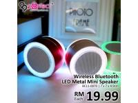 Mini LED Metal Bluetooth Speaker (BC11-70) [ 99PERFECT ]