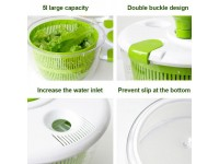 Vegetable Fruits Dehydrator Manually Multifunction Drain Basket for Kitchen Wash and Spin-Dry Salad Spinner