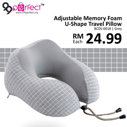 Adjustable U Shaped Memory Foam Neck Pillows Travel Office Ergonomics Pillows Cushion Soft Slow Rebound Cervical Healthcare Bedding