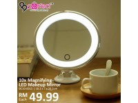 10x Magnifying Makeup Bathroom LED Mirror
