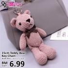 Fashion 15cm Teddy Bear Key Chain
