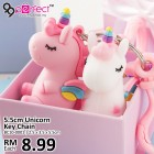 Best Gift 5.5cm Rainbow Unicorn Keychain