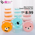 4pcs Cute Cartoon Food Container Set