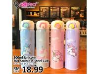 500ml Unicorn Stainless Steel Drinking Water Bottle